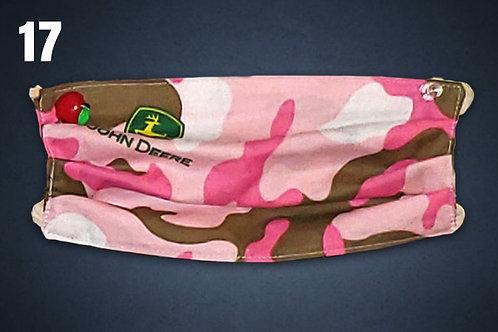 Pink Camo John Deere Face Cover