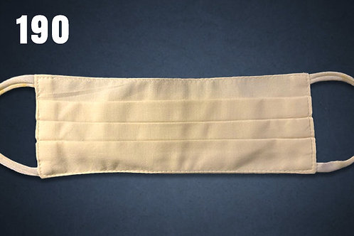 Ivory Solid Face Cover