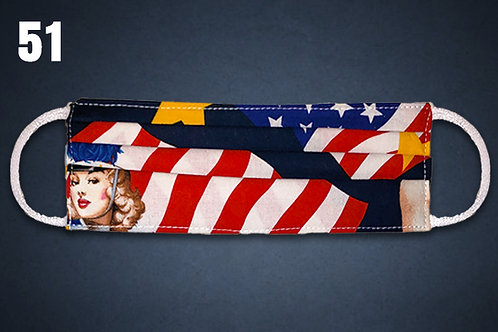 Lady Patriot Face Cover