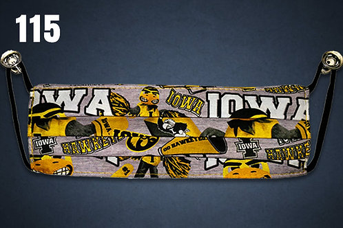 Iowa Hawkeyes Herky Forever Gray Face Cover