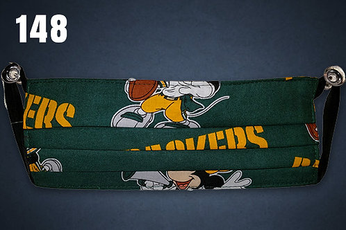 Green Bay Packers Mickey & Minnie Face Cover