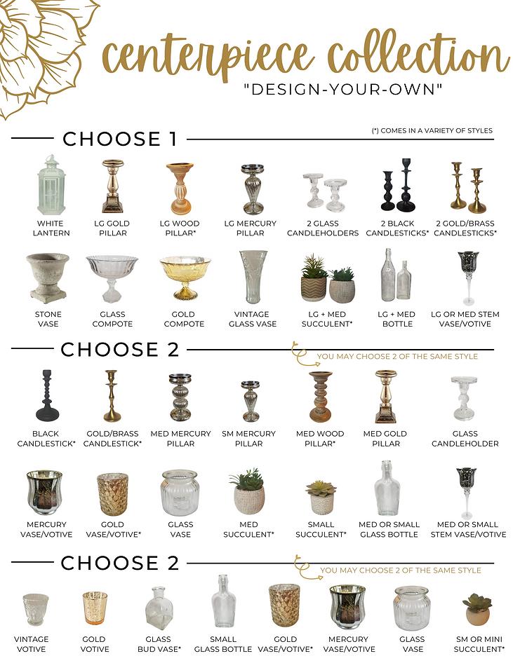 Table Twenty Five Event Rentals Design Your Own Centerpieces