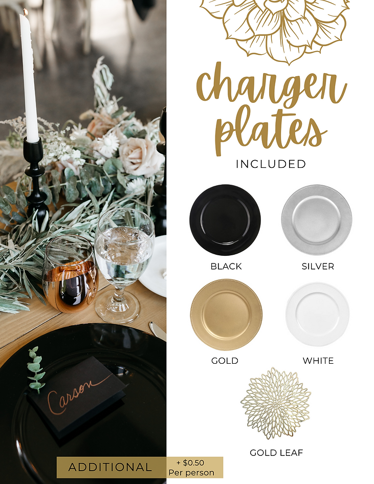 Table Twenty Five Event Rentals Charger Plates