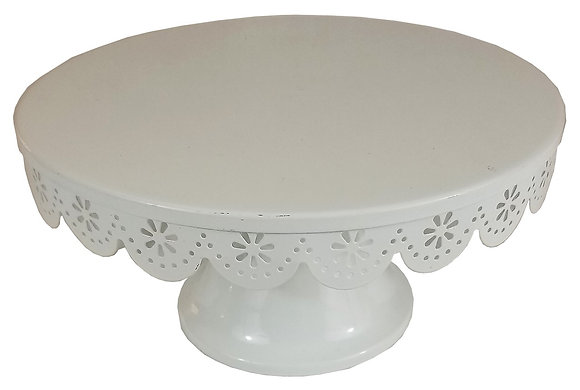 White Scalloped Stand