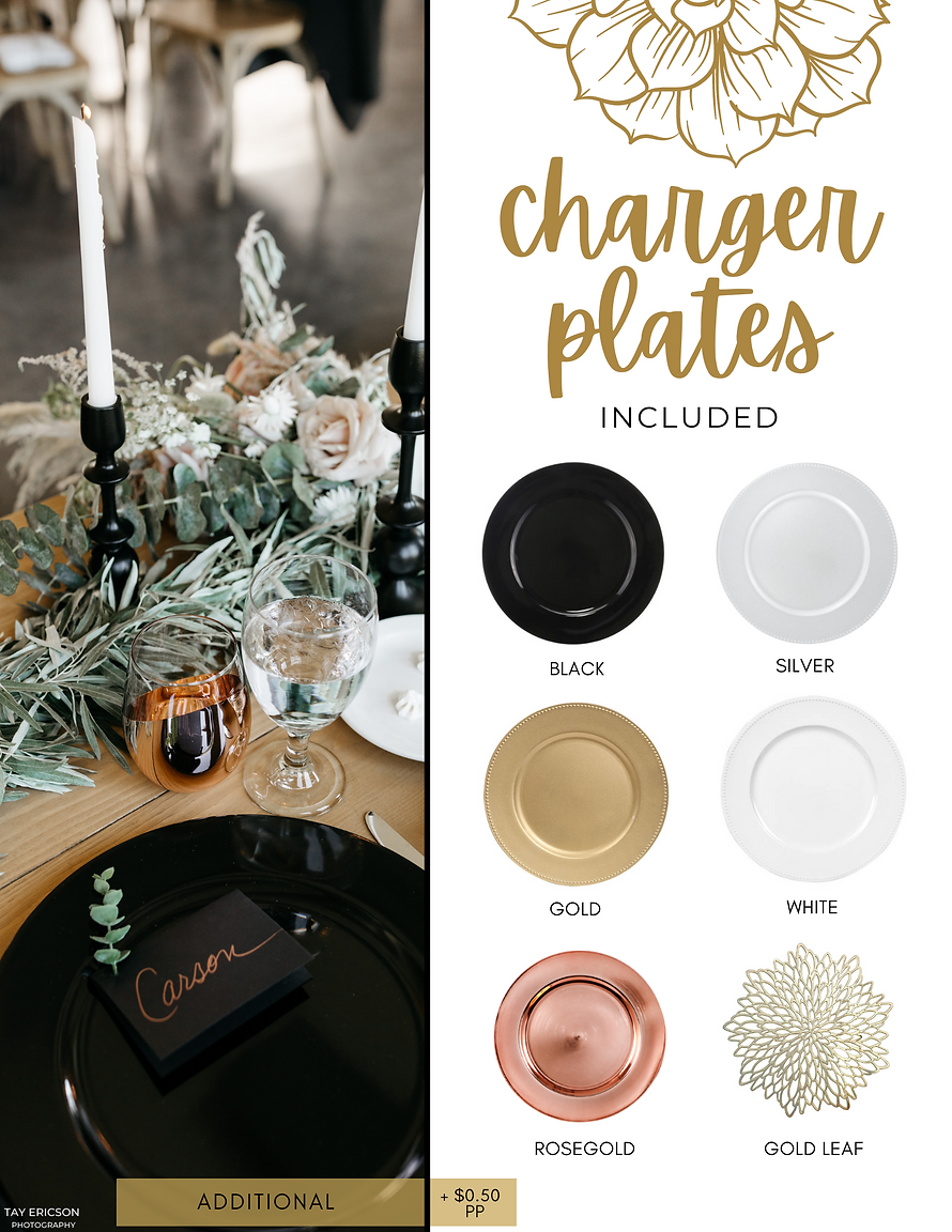Table Twenty-Five Charger Plates
