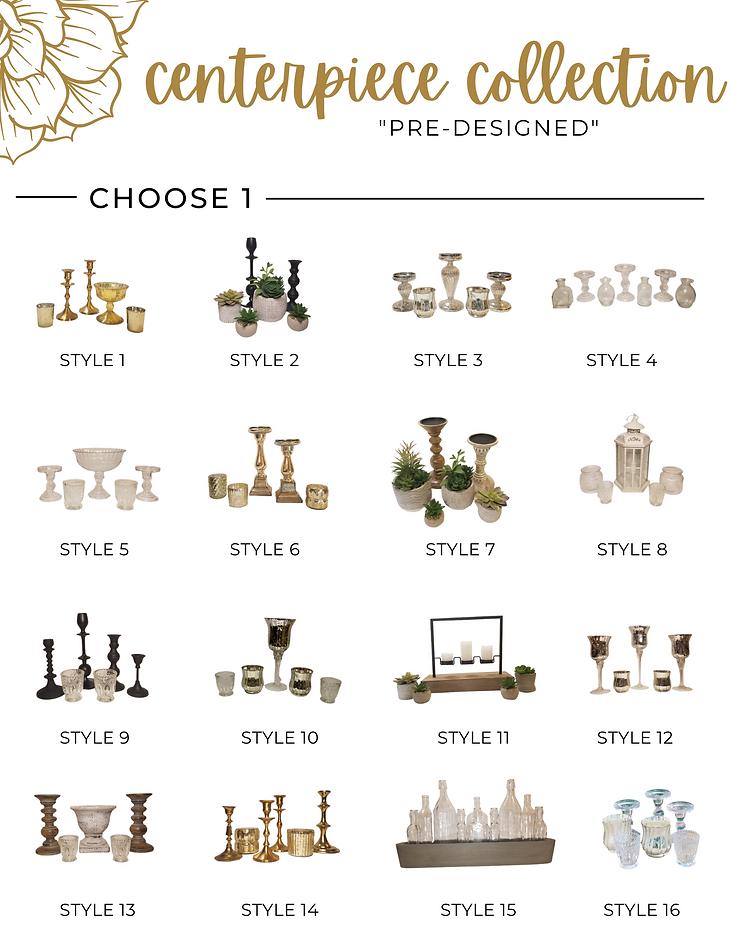 Table Twenty Five Event Rentals Pre-Designed Centerpieces