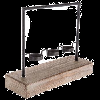 Wood/Iron Candleholder