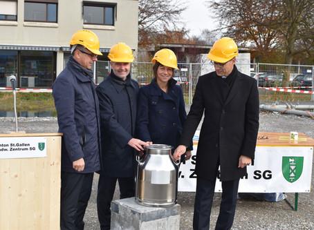 Grundsteinlegung landwirtschaftliches Zentrum Kanton St.Gallen, Salez