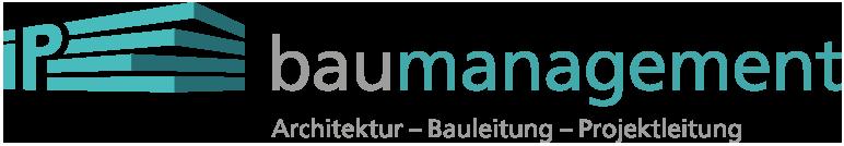 Firmenlogo der iP baumanagement ° Bild Logo Signet ww.ipbau.ch