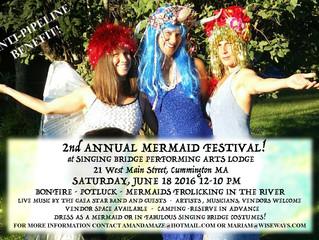 2nd Annual Mermaid Festival, Saturday June 18th 12-10 PM