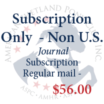 Journal Subscription Only - Non U.S.