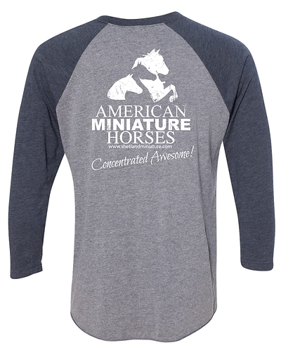 American Miniature Horse Concentrated Awesome Baseball Tee