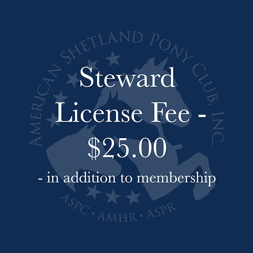 Steward License Fee