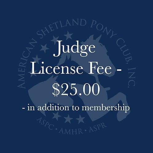 Judge License Fee