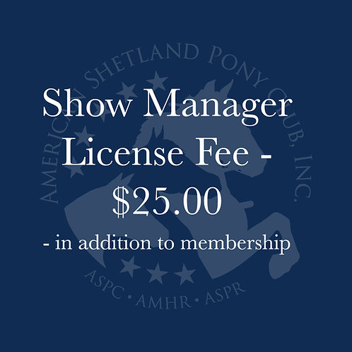 Show Manager License Fee