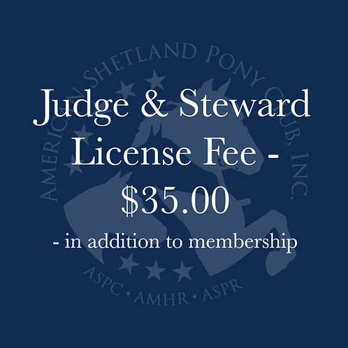 Judge & Steward License Fee