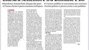"""""""Ampliamento del Cus in via Corrado: intesa a settembre fra Comune e Bo"""", il Gazzettino parla di noi"""