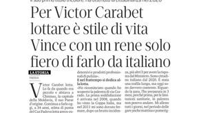 """""""Per Victor Carabet lottare è uno stile di vita"""", la pagina del Mattino sull'atleta del Cus Padova"""