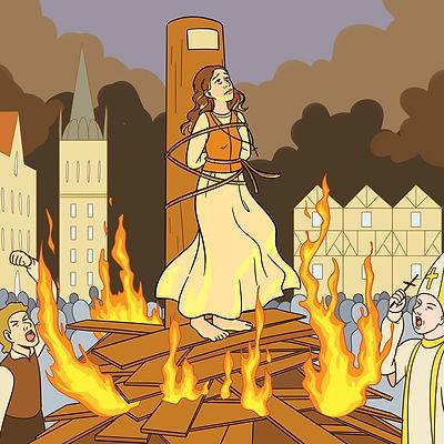 ligne de chronos_La mort de Jeanne-d'Arc