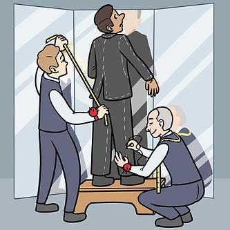 mannequins_se faire prendre ses mesures_