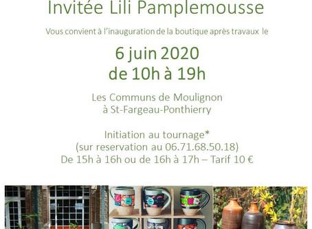 Inauguration de la boutique des Potiers du Hameau