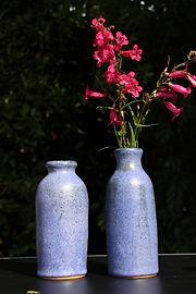 Bouteilles Soliflores bleu lavande