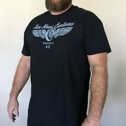 Jim Nasi Customs Wings T-Shirt Apparel Black