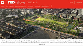 2018 TED Talk Green public space, Climate change and Chulalongkorn Centennial Park design