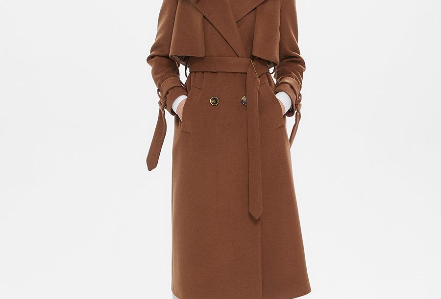 Пальто Тренч Dark Camel