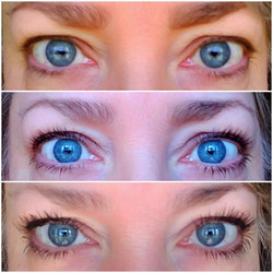 Before, after and after with mascara