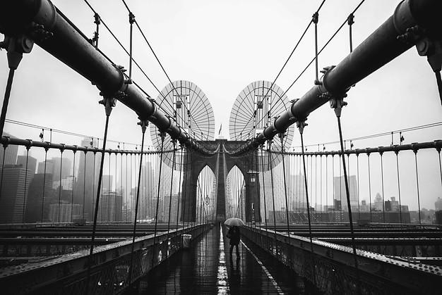 BROOKLYN BRIDGE DURING COVID, NEW YORK, 2020