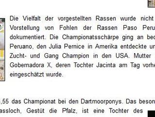 Bericht zum Fohlenchampionat des Zuchtverbands Rheinland Pfalz Saar