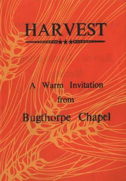 Chapel flyer harvest 1976