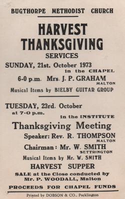 Chapel harvest festival 1973