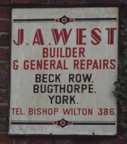 JA West sign