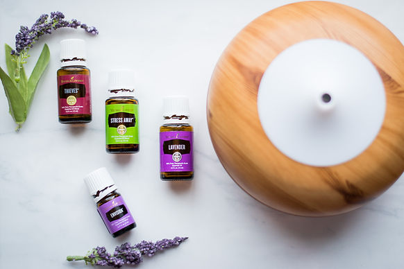 Young Living Essential Oil Flat Lay
