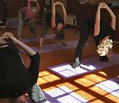 Sunlight yoga class