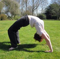 Mo backbending in the garden