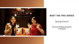 Meet The Pro in collaboration with MY Wedding Planner - Part 2
