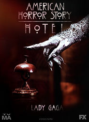 American Horror Story: Hotel Television Poster starring Lady Gaga