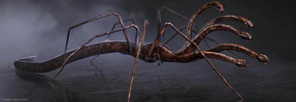 Spydra Creature Design Concept Art Digital Painting Illustration Horror
