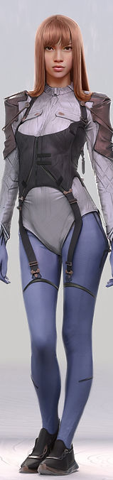 Artbreeder Xander Smith Design Concept Art AI GAN Design Fashion Illustration Baby Blue Bionic