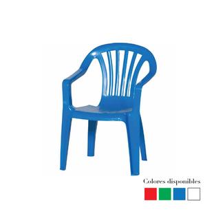 Silla plástica de niño (roja, verde, azul y blalca)
