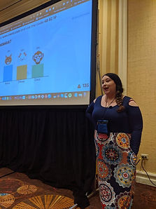 Photo of Cara North speaking at DevLearn