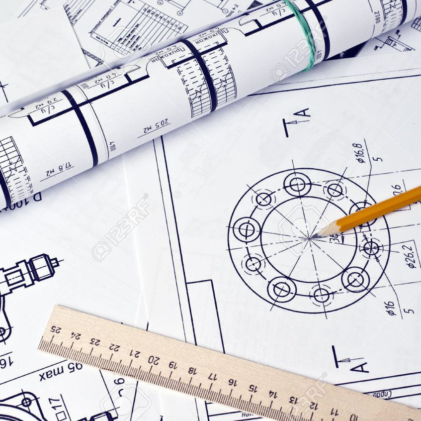 8959427-The-engineering-drawing-Stock-Ph