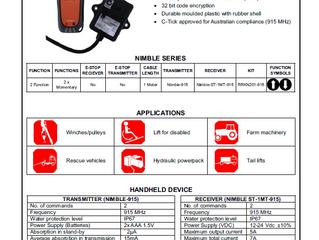 Nimble Remote Control for semi Tipper application .