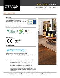 Bellagio LEED Summary - Oregon Lumber Company