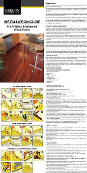 Bellagio Solid Installation Instructions - Oregon Lumber Company