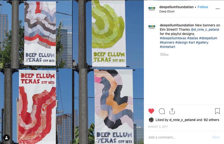 Donnie Copeland Deep Ellum Foundation Banners