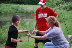 Baiting Lesson with Aunt Pam